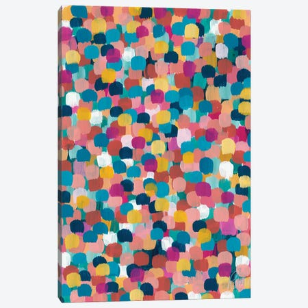 Colored Dots Canvas Print #ROW11} by Roma Osowo Canvas Print