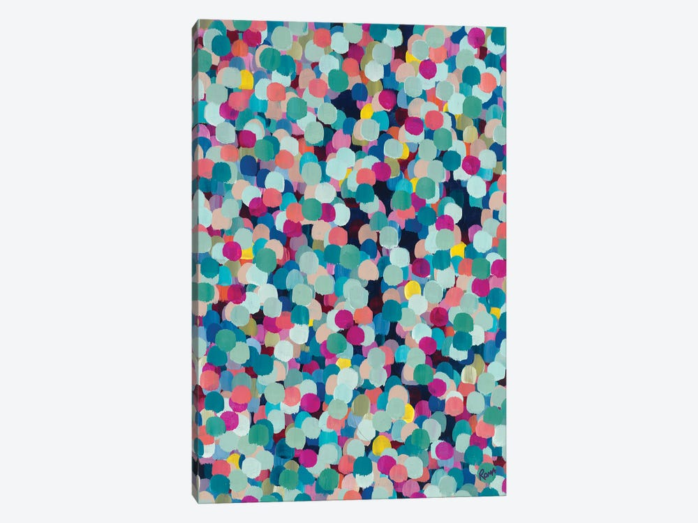 Colored Dots V by Roma Osowo 1-piece Canvas Print