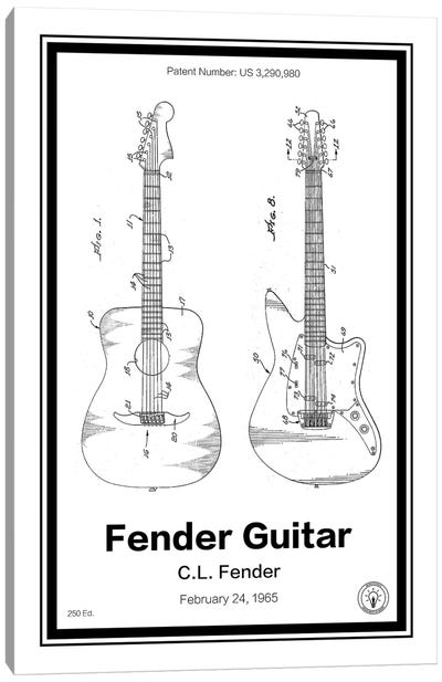 Fender Guitar Canvas Art Print