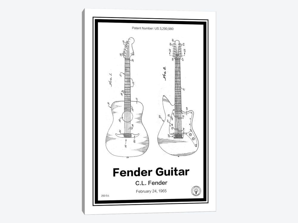 Fender Guitar by Retro Patents 1-piece Canvas Art Print