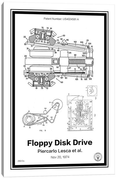 Floppy Disk Drive Canvas Art Print