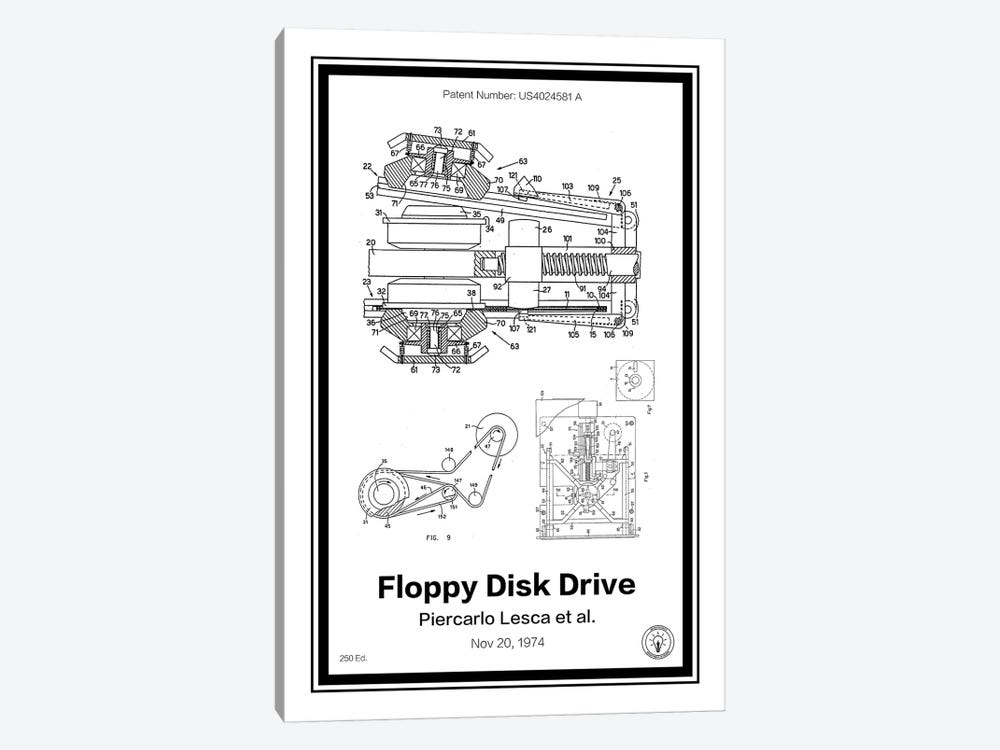 Floppy Disk Drive by Retro Patents 1-piece Canvas Art