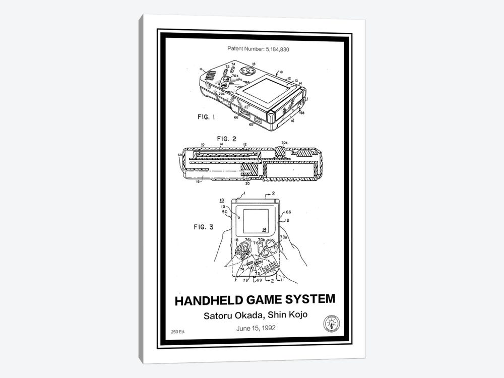 Gameboy by Retro Patents 1-piece Canvas Print