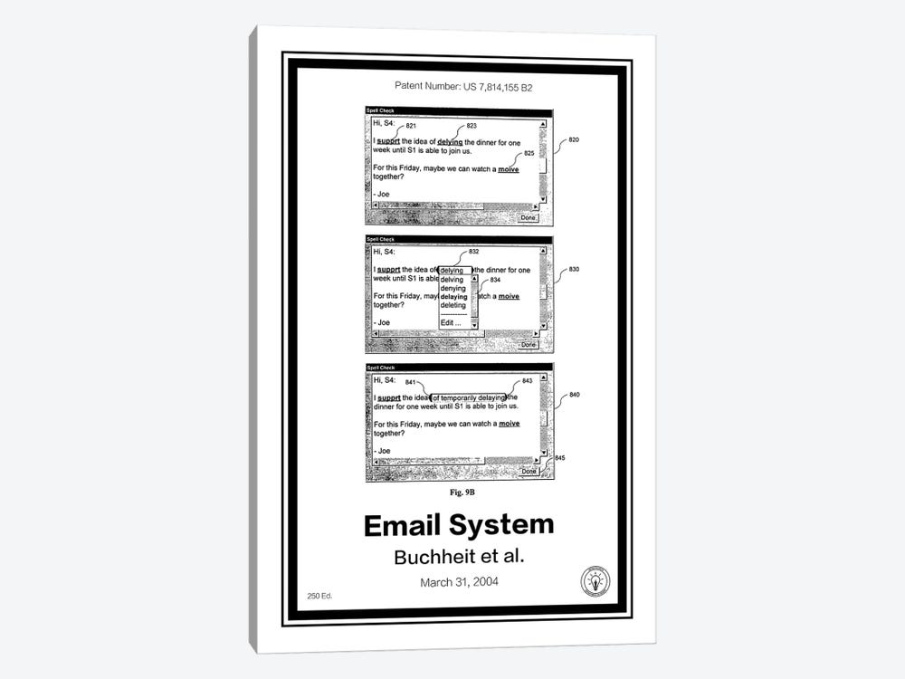 Gmail by Retro Patents 1-piece Canvas Art