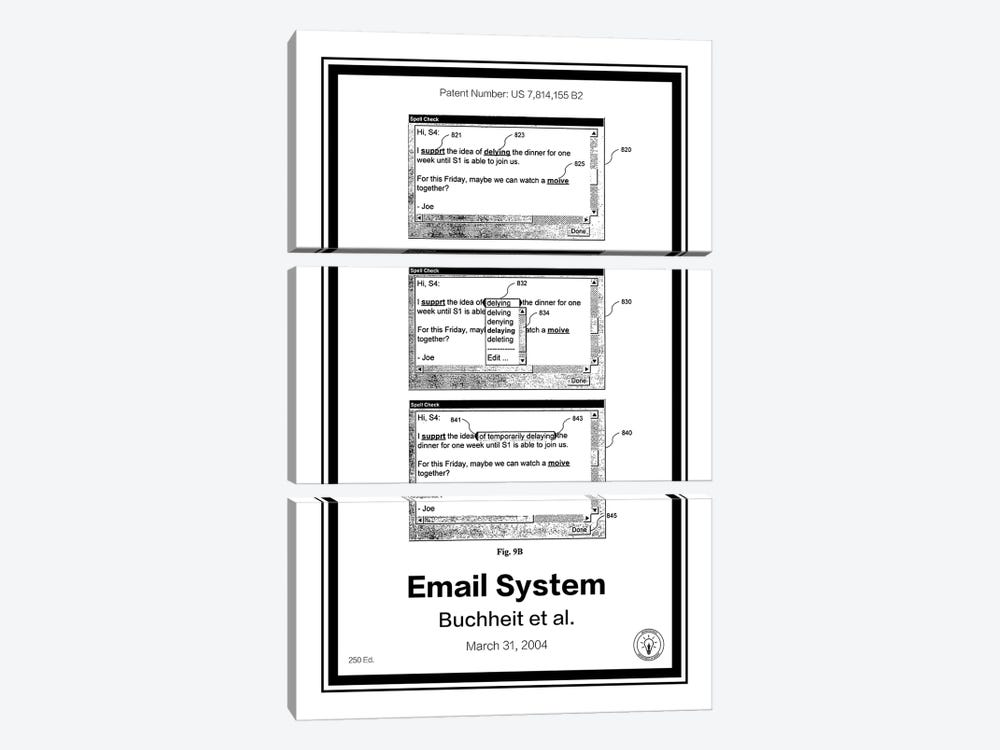 Gmail by Retro Patents 3-piece Canvas Artwork