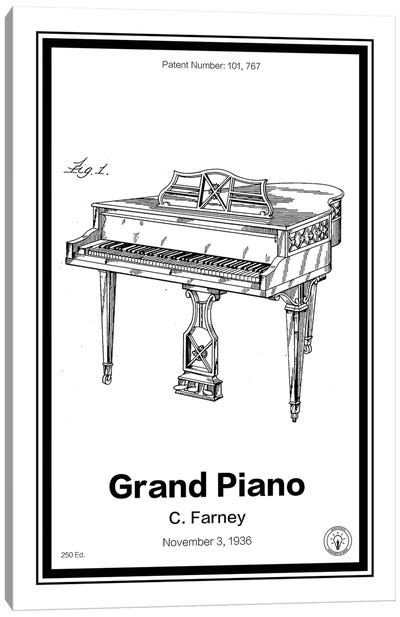 Grand Piano Canvas Art Print