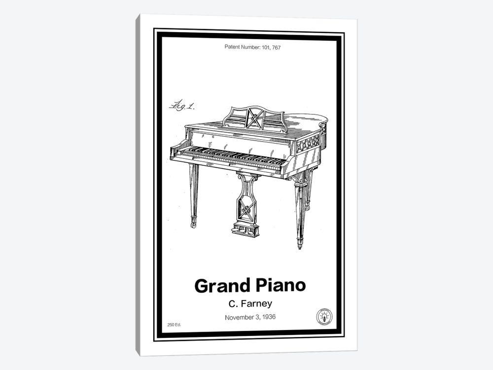 Grand Piano by Retro Patents 1-piece Canvas Print