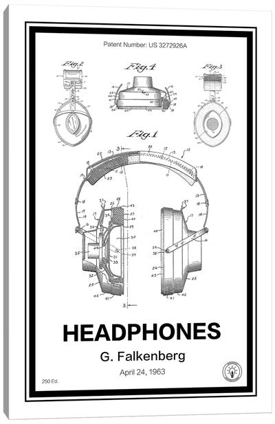 Headphones Canvas Art Print