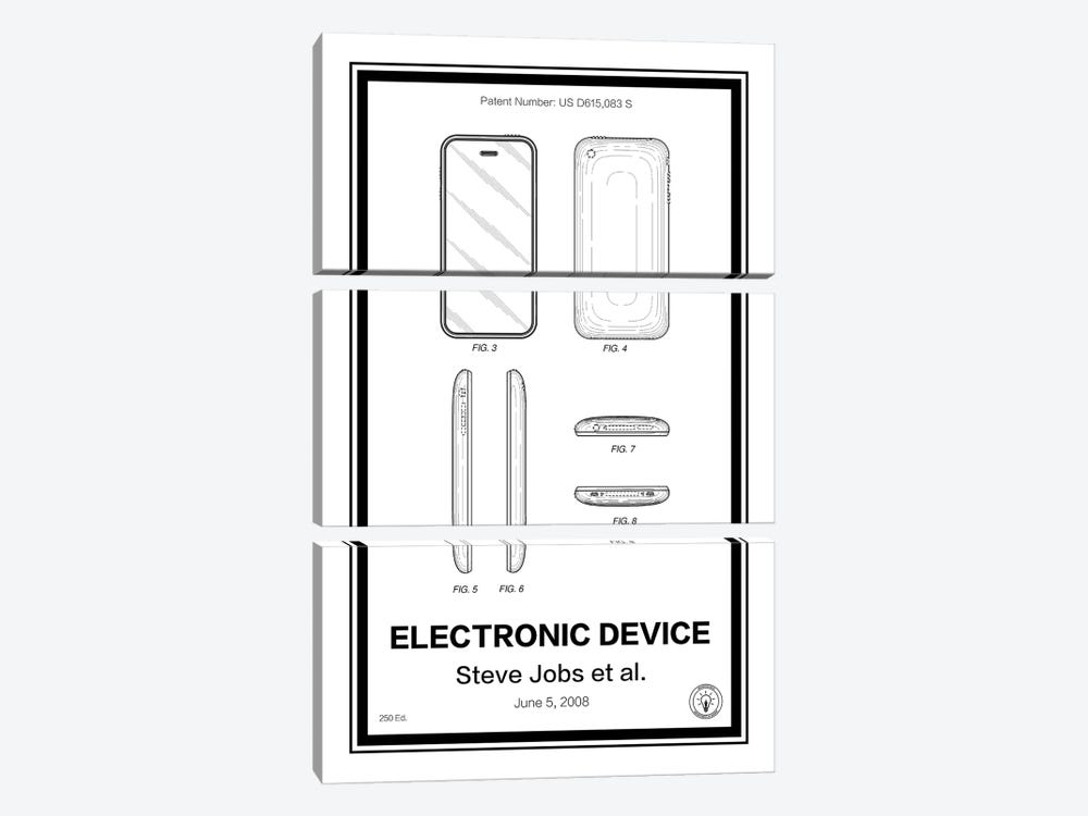 iPhone by Retro Patents 3-piece Canvas Art