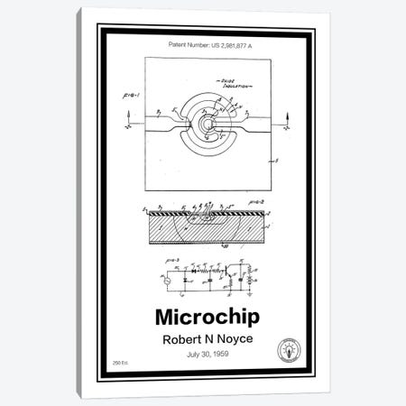 Microchip 3-Piece Canvas #RPA20} by Retro Patents Canvas Art Print