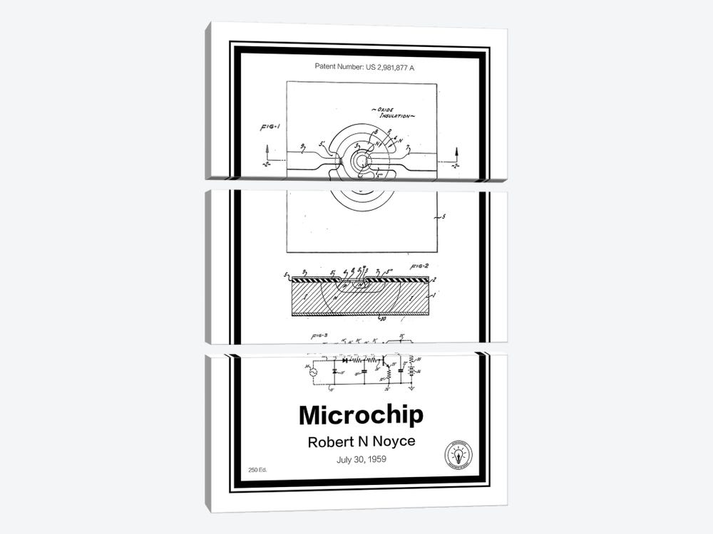 Microchip by Retro Patents 3-piece Canvas Wall Art