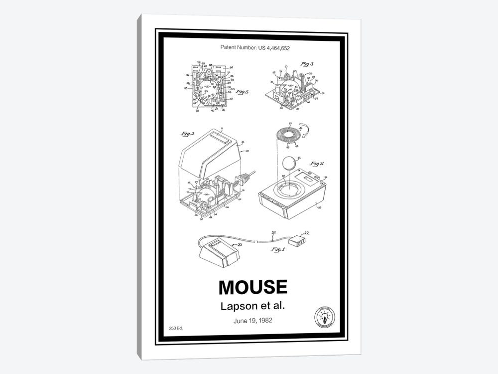 Mouse by Retro Patents 1-piece Canvas Art Print