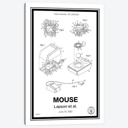Mouse Canvas Print #RPA21} by Retro Patents Art Print