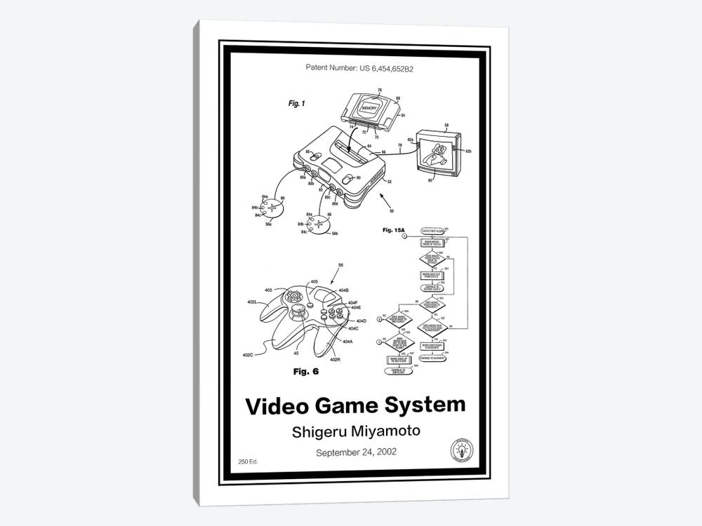 N64 by Retro Patents 1-piece Canvas Wall Art
