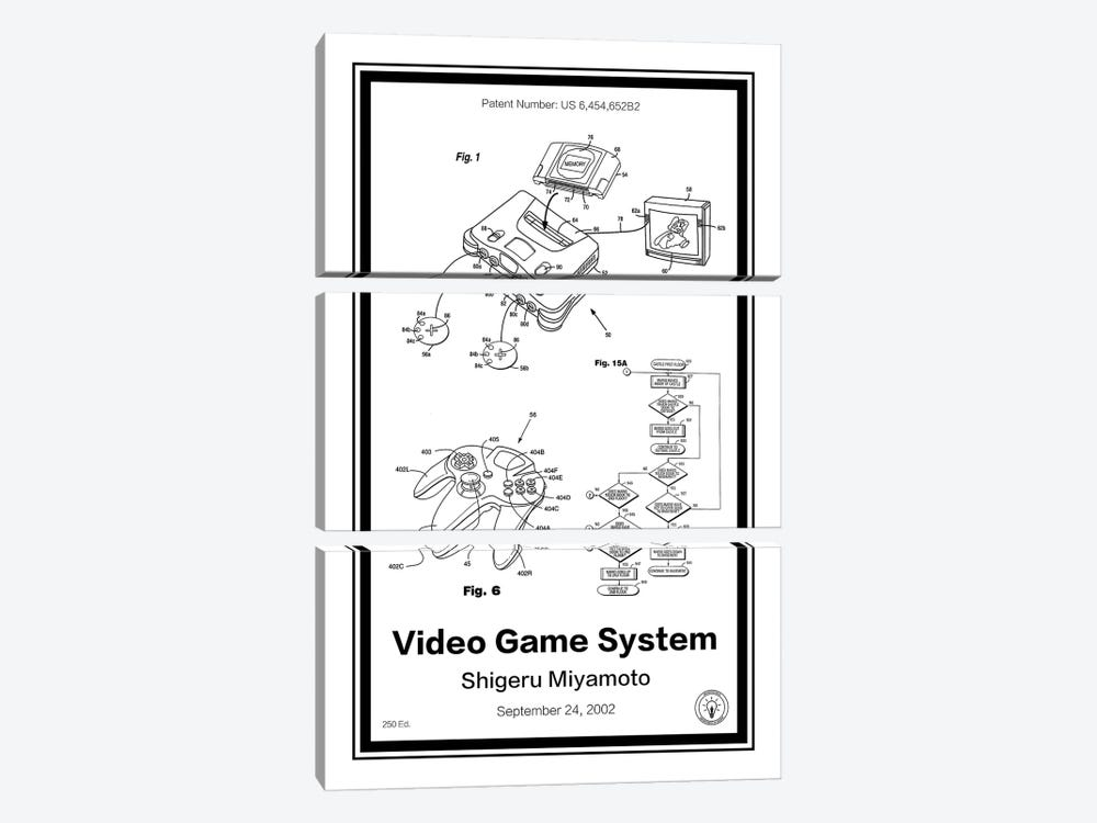 N64 by Retro Patents 3-piece Canvas Artwork