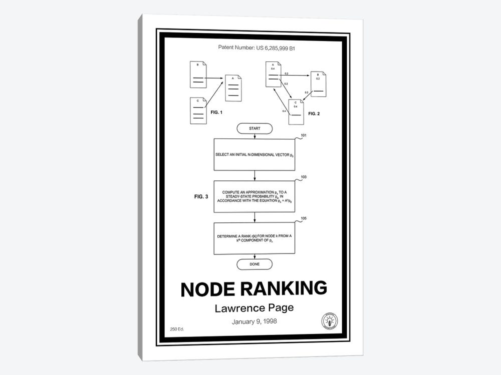 Page Rank by Retro Patents 1-piece Canvas Wall Art