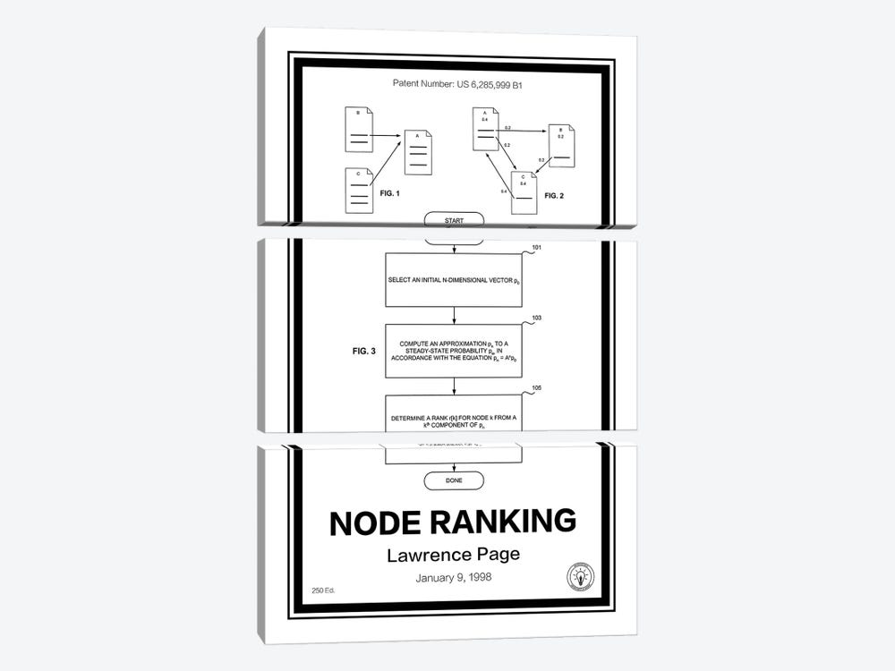 Page Rank by Retro Patents 3-piece Canvas Artwork