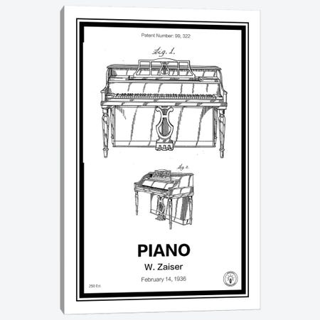 Piano Canvas Print #RPA26} by Retro Patents Canvas Art