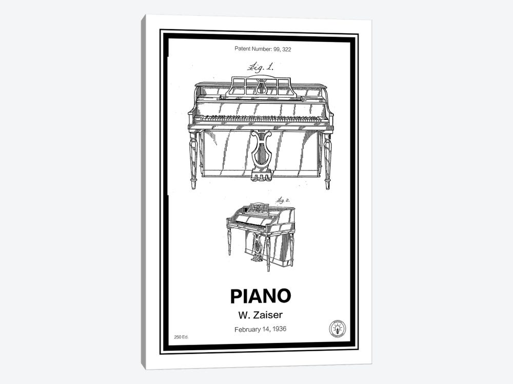Piano by Retro Patents 1-piece Canvas Art