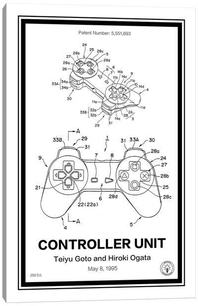 Playstation Controller Canvas Art Print