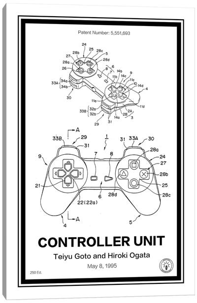 Playstation Controller Canvas Art Print
