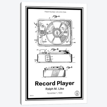 Record Player Canvas Print #RPA29} by Retro Patents Art Print