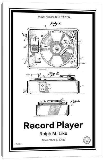 Record Player Canvas Art Print