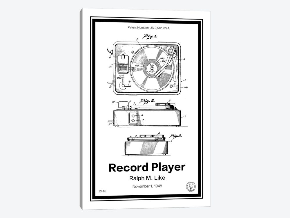 Record Player by Retro Patents 1-piece Canvas Print