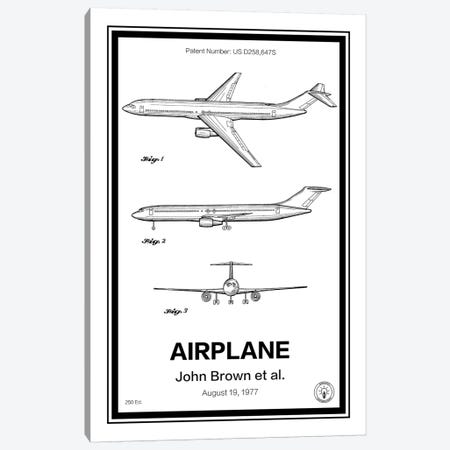 Airplane Canvas Print #RPA2} by Retro Patents Canvas Art