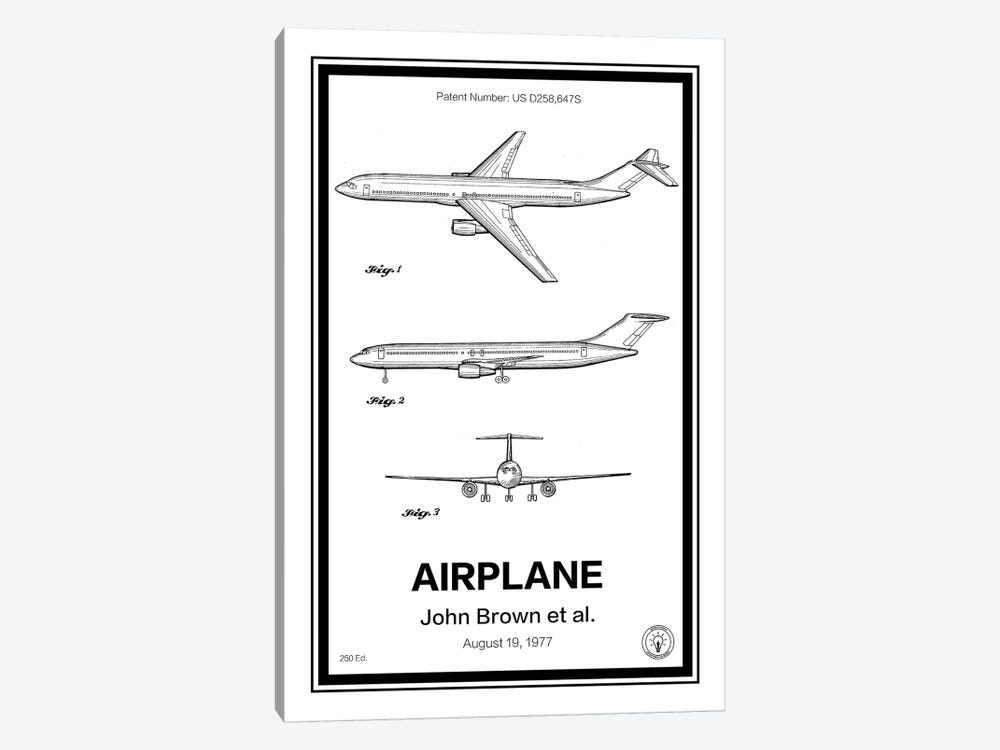 Airplane by Retro Patents 1-piece Art Print