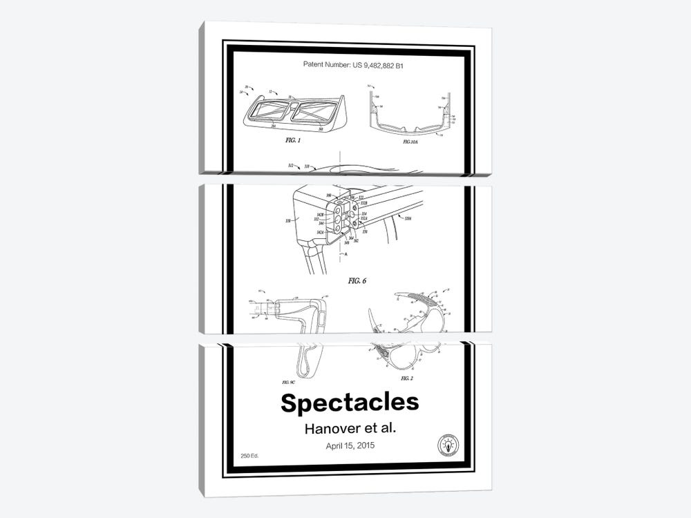 Snap Specatcles by Retro Patents 3-piece Canvas Art Print