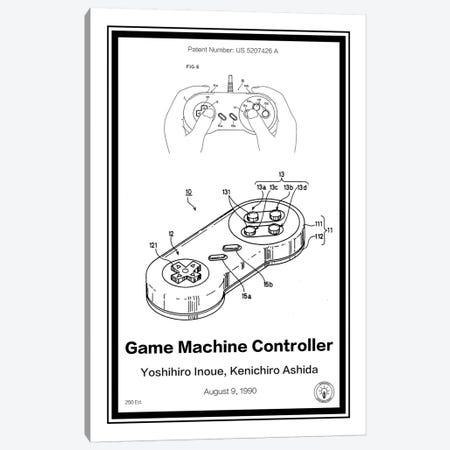 SNES Controller Canvas Print #RPA31} by Retro Patents Canvas Art