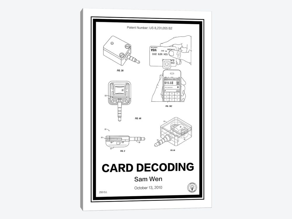 Square, Card Decoder by Retro Patents 1-piece Canvas Art Print