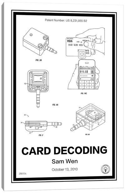 Square, Card Decoder Canvas Art Print