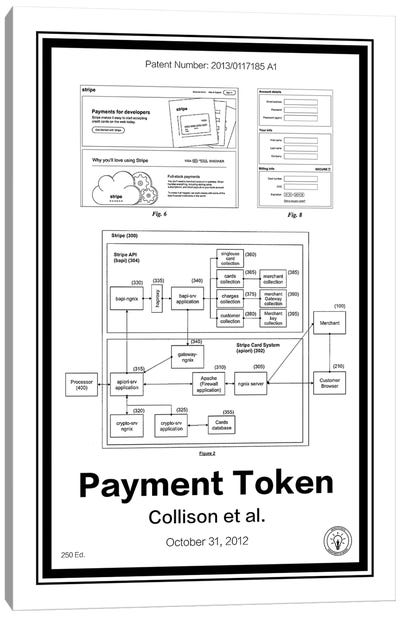 Stripe Payment Token Canvas Art Print