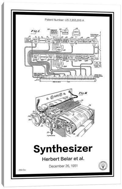 Synthesizer Canvas Art Print