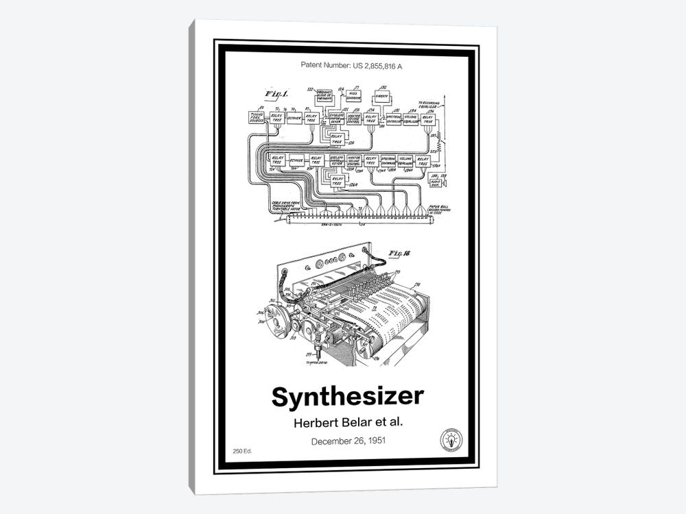 Synthesizer by Retro Patents 1-piece Canvas Print