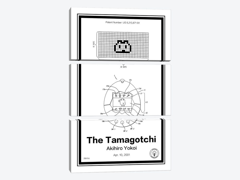 Tamagotchi by Retro Patents 3-piece Canvas Artwork