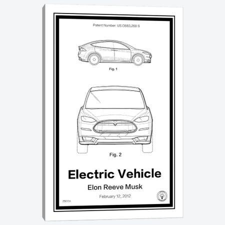 Tesla Canvas Print #RPA36} by Retro Patents Canvas Art Print