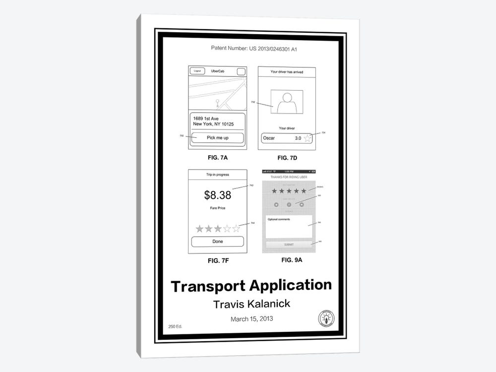 Uber by Retro Patents 1-piece Canvas Artwork
