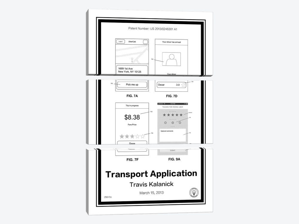 Uber by Retro Patents 3-piece Canvas Art