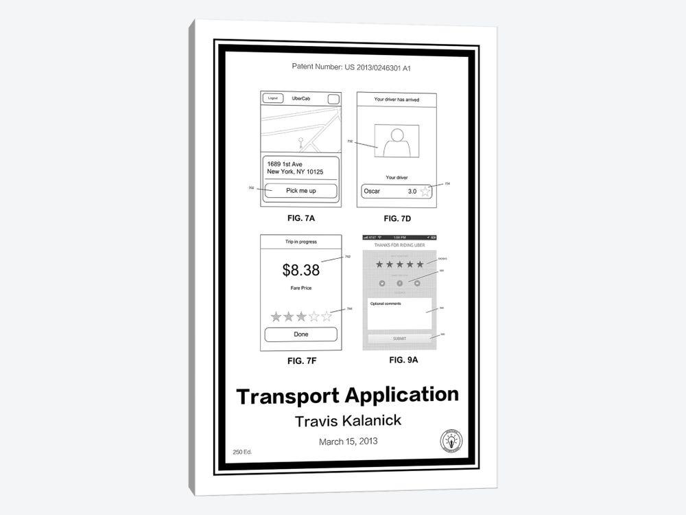Uber by Retro Patents 1-piece Canvas Artwork