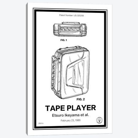 Walkman Canvas Print #RPA39} by Retro Patents Canvas Art