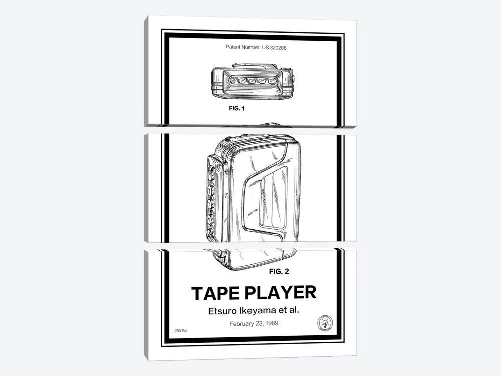 Walkman by Retro Patents 3-piece Canvas Artwork