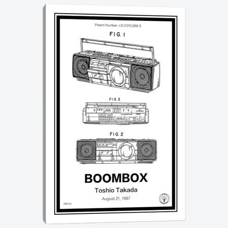 Boombox Canvas Print #RPA5} by Retro Patents Canvas Print