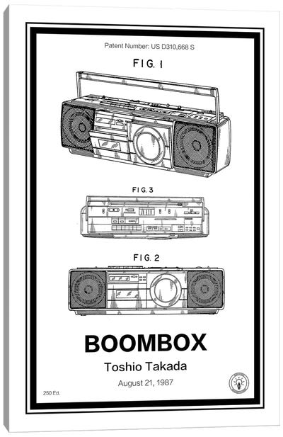 Boombox Canvas Art Print