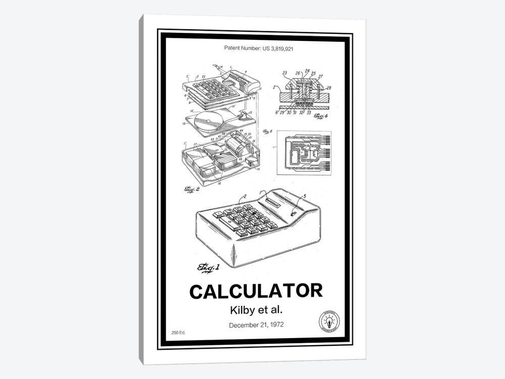 Calculator by Retro Patents 1-piece Canvas Artwork