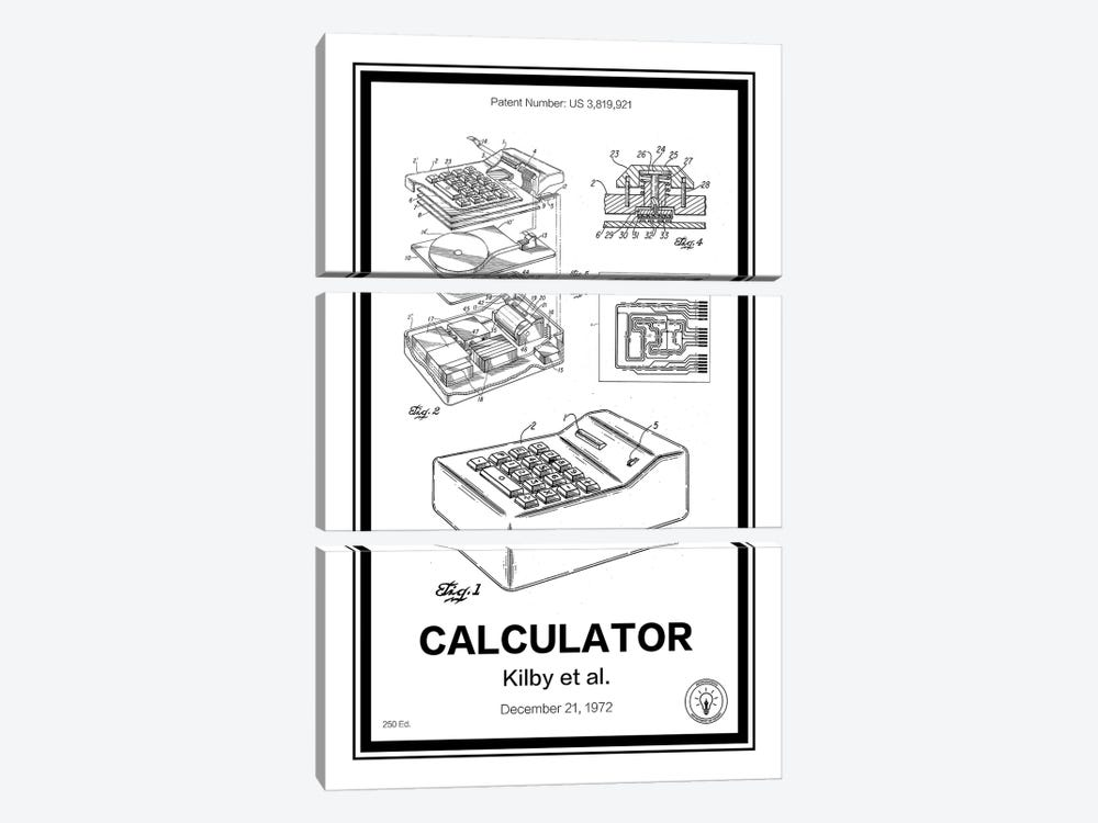 Calculator 3-piece Canvas Artwork