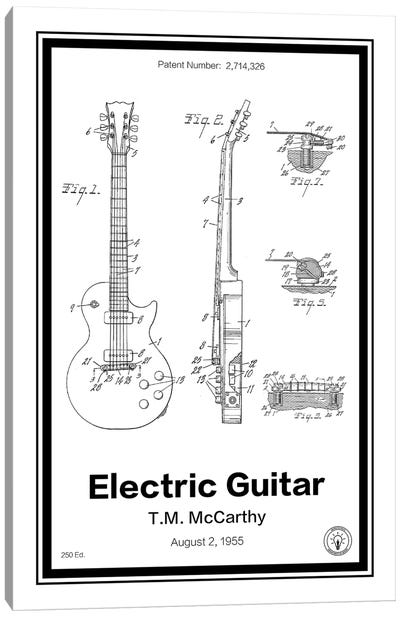 Electric Guitar Canvas Art Print
