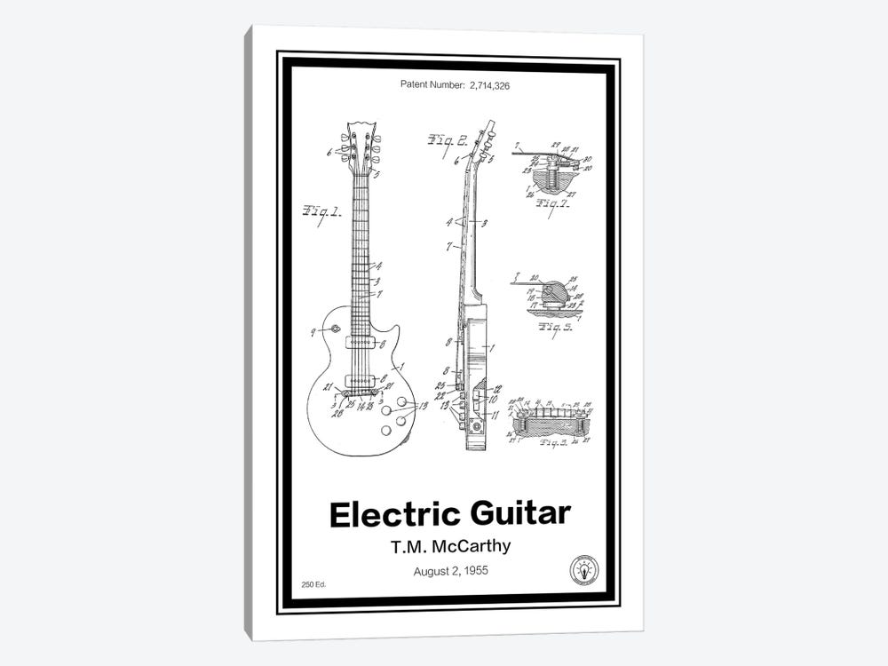 Electric Guitar by Retro Patents 1-piece Canvas Art
